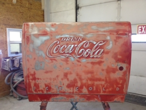 Coca-Cola cooler restoration