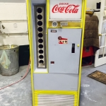 Coca Cola cooler restoration in progress