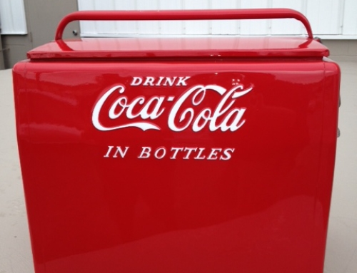 Restoration of Antique Coca Cola Cooler in Duxbury
