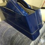 cracked motorcycle saddlebags