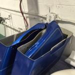 damaged Harley Davidson saddlebags
