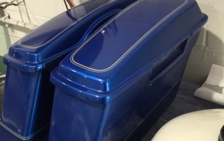 motorcycle saddlebag repaint